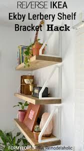 Hacking Ikea Diy Wall Shelf Reverse Ikea Ekby Lerberg Bracket Hack Easy