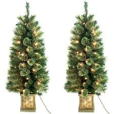 time pre lit 4 topiary trees in pots 2 pack
