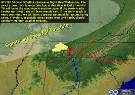 Tennessee Weather Map by The Weather Guy December 2012