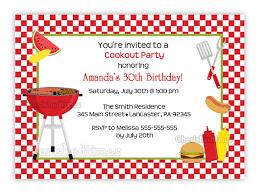 favorite personalized custom picnic and barbecue party invitation
