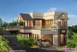 kerala home design flat roof elevation flat roof luxury home design kerala floor plans building house