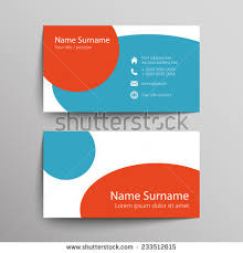 Simple Business Cards Templates Modern Simple Business Card Template Vector Stock Vector 235266643