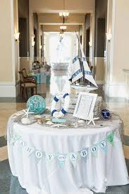 Nautical Themed Baby Shower Banner - ahoy its a boy banner nautical baby shower decor chevron stripes