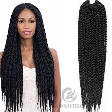 box braids hairstyle human hair or synthtic 18 pretwist 3x box braids twist braid crochet synthetic hair