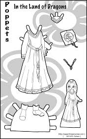 medieval fantasy costume for a printable paper doll