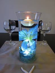 light blue tiger lily 2015 new year floating candle vase light