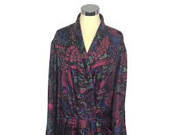 dressing gown silk dressing gown peacock beckford silk