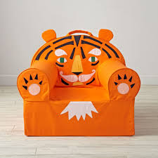 orange tiger kids executive nod chair cover the land of nod