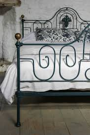gorgeous king size portuguese forged iron bed with original brass