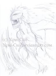 bleach hollow ichigo sketch by yami chii on deviantart