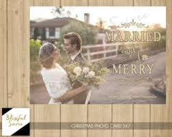 Newly Wed Christmas Card Newlywed Christmas Card First Married Christmas Cards Fun