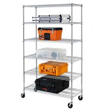 Metal Wire Storage Shelves 72 U0026 034 X48 U0026 034 X18 U0026 034 Commercial 6 Tier Shelf Adjustable