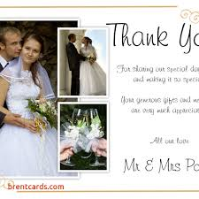 thank you wedding cards sle thank you wedding cards free card design ideas
