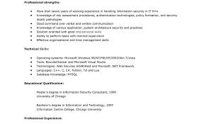 Consultant Resume Samples by Information Security Resume Sample Information Security Consultant