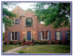 red brick house color schemes painting home design ideas