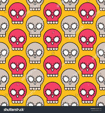 skull wrapping paper vector skull seamless pattern colorful stock vector 220481338