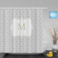 Monogram Shower Curtains Monogrammed Shower Curtain Home Decorating Interior Design