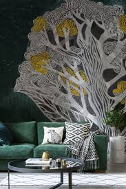 33 best home office ideas images on pinterest wallpaper murals ochre tree wallpaper mural