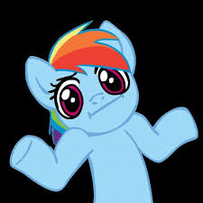Pony Meme - pony shrugs blank meme template imgflip