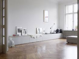 long clean white storage ikea besta may work for this look