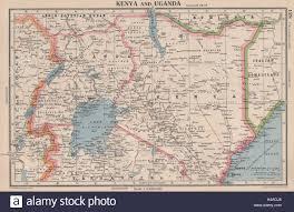 Uganda Africa Map by East Africa Kenya And Uganda Lake Victoria Bartholomew 1944 Old