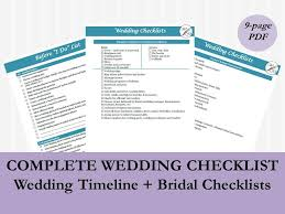 complete wedding checklist 10 etsy products to keep your wedding planning organized
