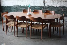 mid century modern dining table oval drk architects