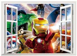 Superhero Home Decor Wall Stickers For Kids Picture More Detailed Picture About Lego