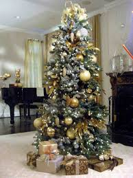diy decoration white tree with gold