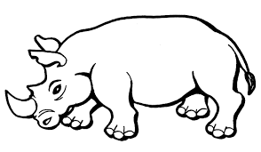 free printable rhinoceros coloring pages for kids for holiday
