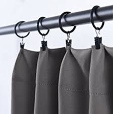 Hanging Rod Pocket Curtains With Rings Amazon Com Blackout Curtain Panels For Living Room Grey Color