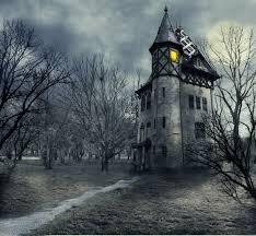 download wallpaper halloween haunted creepy haunted house moon