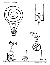 be different act normal free printable circus coloring sheets