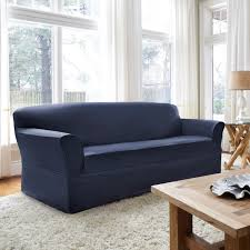 Klaussner Distinctions Coverworks Tara Twill 1 Piece Relaxed Fit Sofa Slipcover In Slate