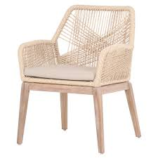Woven Dining Room Chairs Set Of Two Luca Sand Woven Arm Chairs Kitchen Dining
