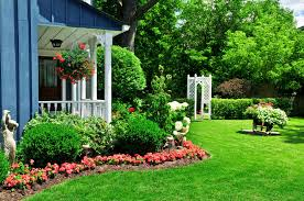 Ideas For Landscaping by Red Flower Plants Around House With Mulch Landscaping Garden House