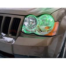 light green jeep cherokee jeep grand cherokee v 3 fusion color change led halo headlight kit
