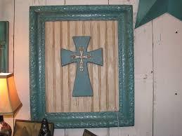 Faith Home Decor by Shabby Chic Rustic Faith Home Decor Turquoise Framed Cross