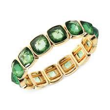anne bracelet images Lyst anne klein goldtone green stone bangle bracelet in green jpeg