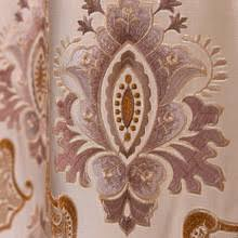 Faux Silk Embroidered Curtains Buy Faux Silk Curtains And Get Free Shipping On Aliexpress