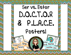 spanish ser estar doctor and place acronyms posters by
