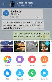 telegram for android in app media playback and search in chats