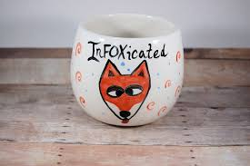 Fox Mug by Amazon Com Infoxicated Stemless Wine Glass Wine Mug Funny Fox