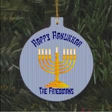 menorah ornament or hanukkah bush ornament