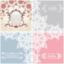 vintage cards vintage cards with floral elements vector vector graphics
