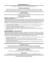 Example Resume For A Job by Payroll Manager Resume Berathen Com