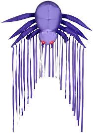 6 u0027 door archway airblown purple spider halloween inflatable