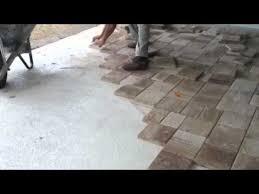Concrete Patio Bricks Best 25 Pavers Over Concrete Ideas On Pinterest Deck Over