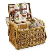 picnic basket for 2 picnic basket with built in tabletop in botanical print