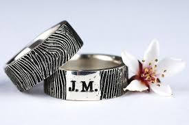 personalized wedding band crafted custom fingerprint ring wedding band personalized